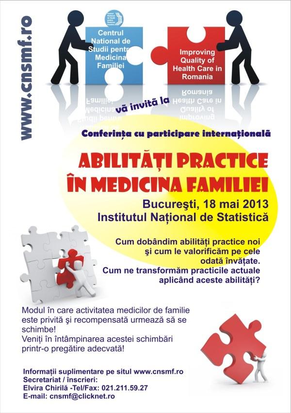 Conferinta cu participare internationala ABILITĂȚI PRACTICE ÎN MEDICINA FAMILIEI